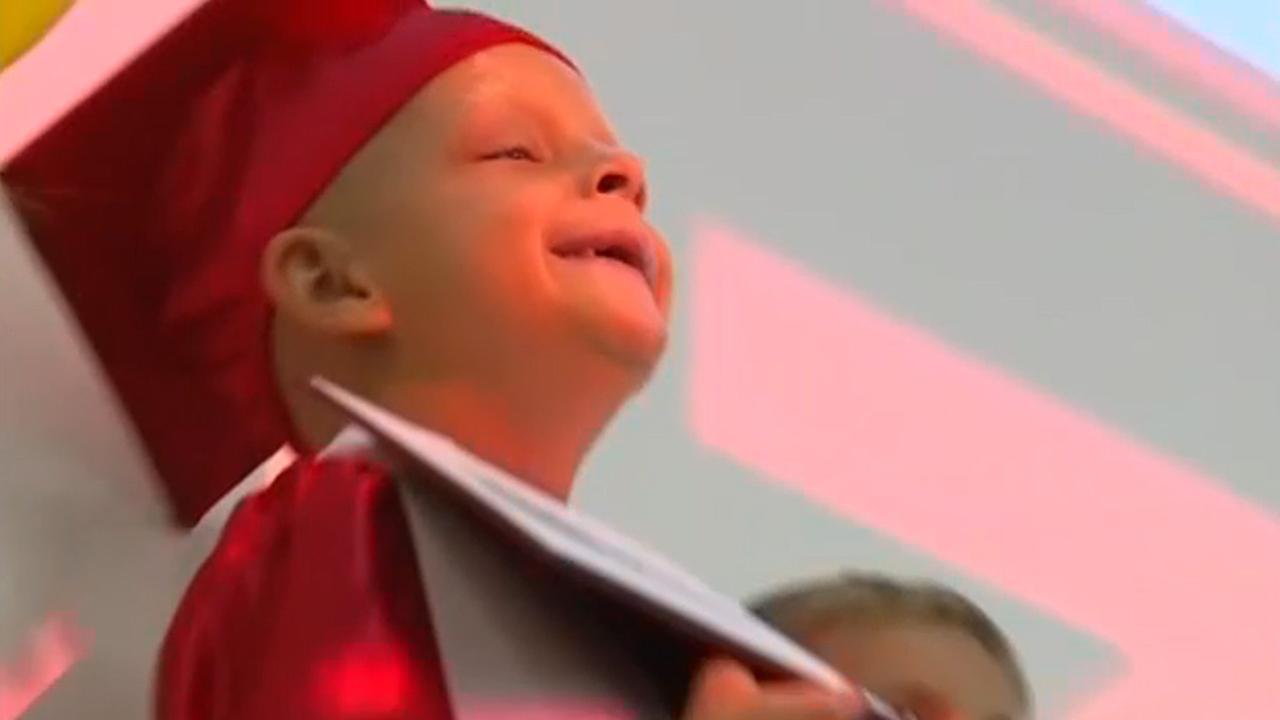 6-year-old boy with cancer fulfills graduation dream