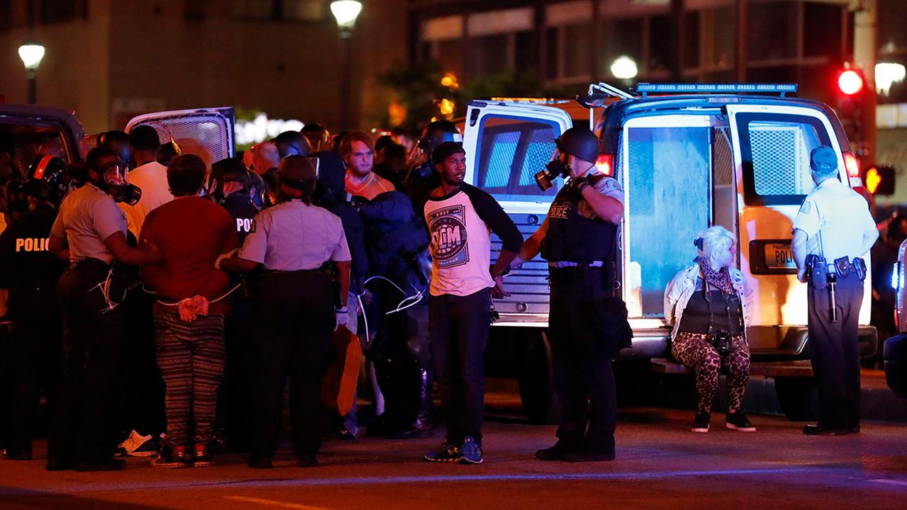 Police make multiple arrests after a peaceful protest turned violent response to a not guilty verdict in the trial of former St. Louis police officer Jason Stockley