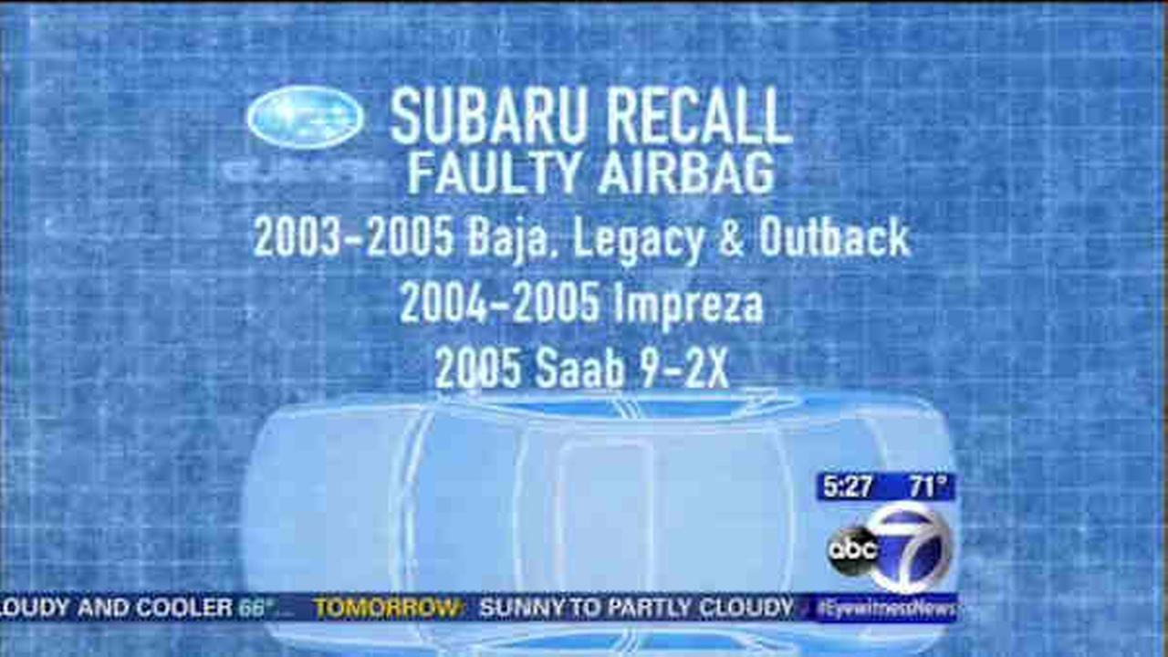 suburu airbag recall