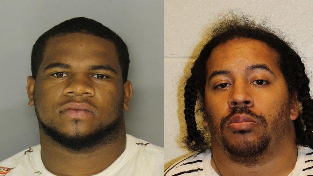 Newark police photos of Michael Ramashai (left) and Cory Alston.