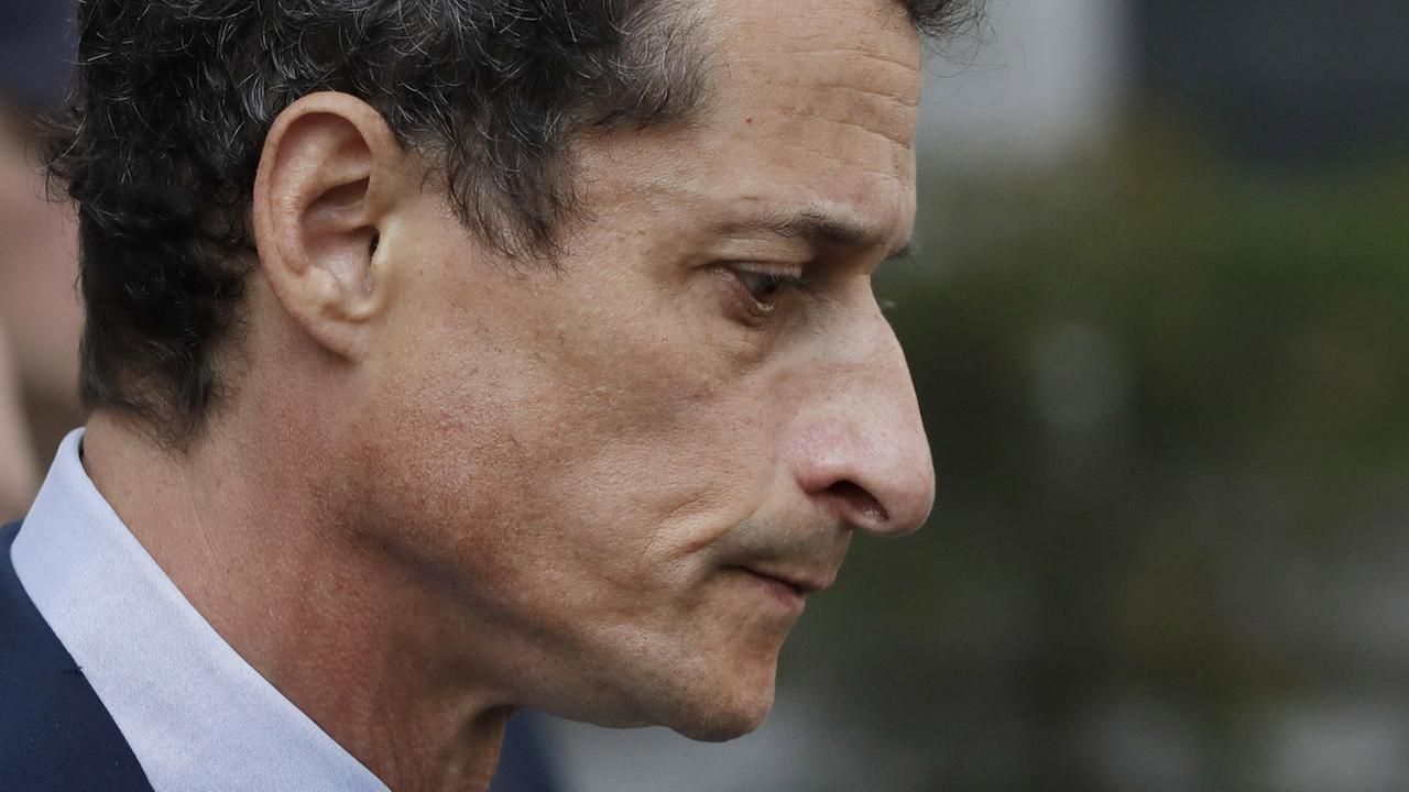 Former Congressman Anthony Weiner (D-N.Y.) leaves federal court following his sentencing, Monday, Sept. 25, 2017, in New York.