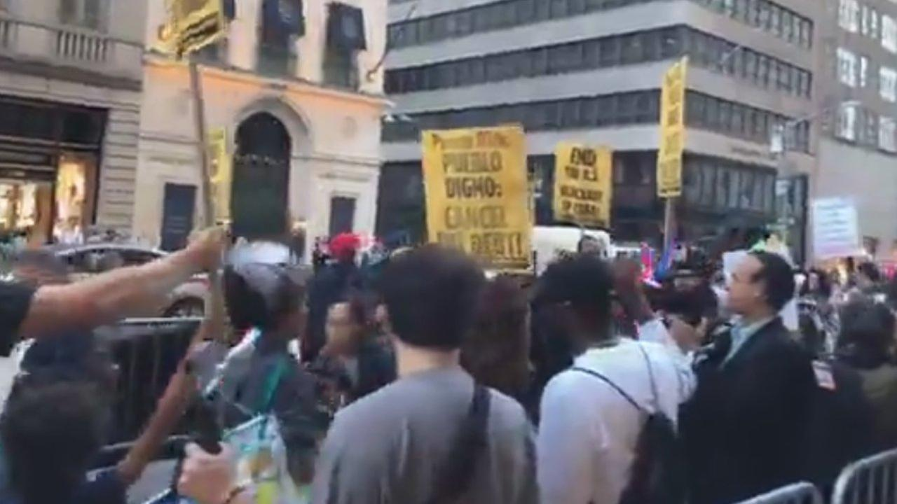 Over 100 Rally for Puerto Rico Aid at Trump Tower