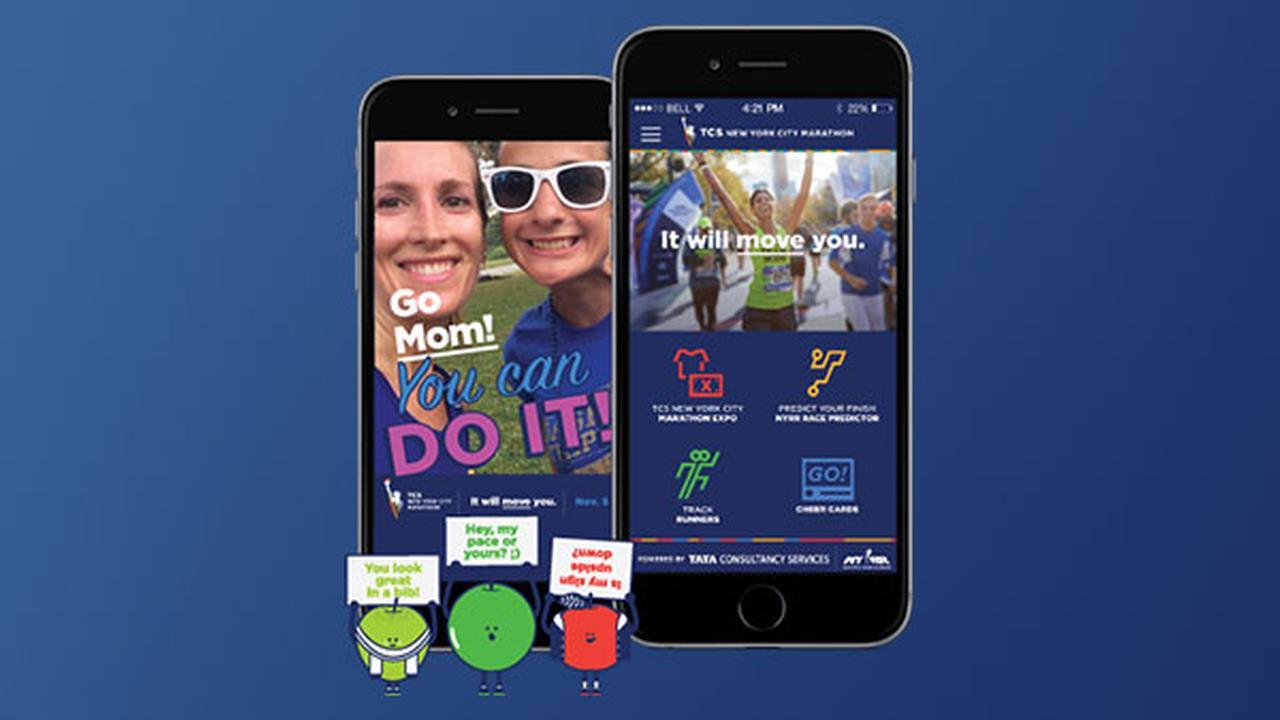 Create custom Cheer Card with TCS New York City Marathon App