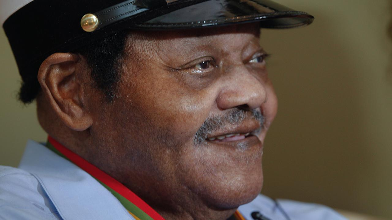 Legendary musician Fats Domino is named Honorary Grand Marshall of the Krewe of Orpheus, the Carnival club that parades the night before Mardi Gras. Friday December 20, 2013.