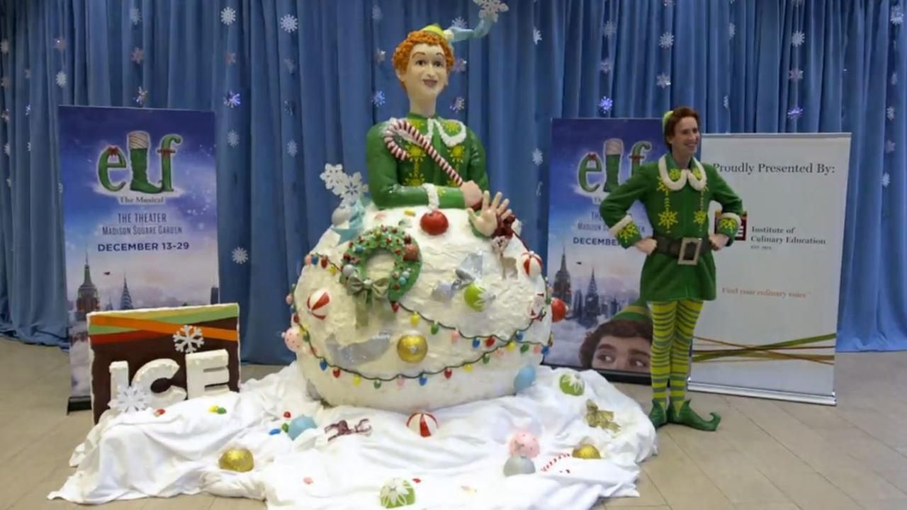 buddy the elf rice krispies sculpture