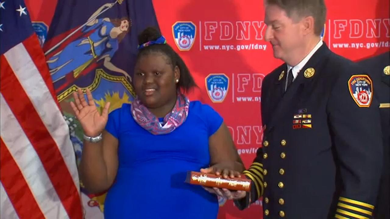 11-year-old girl burned by boiling water in the Bronx honored by FDNY