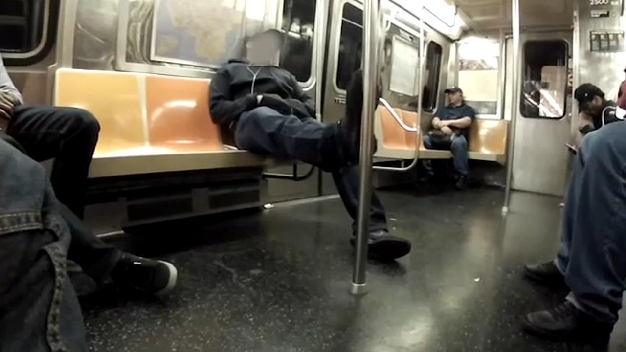 nypd subway sleep crime