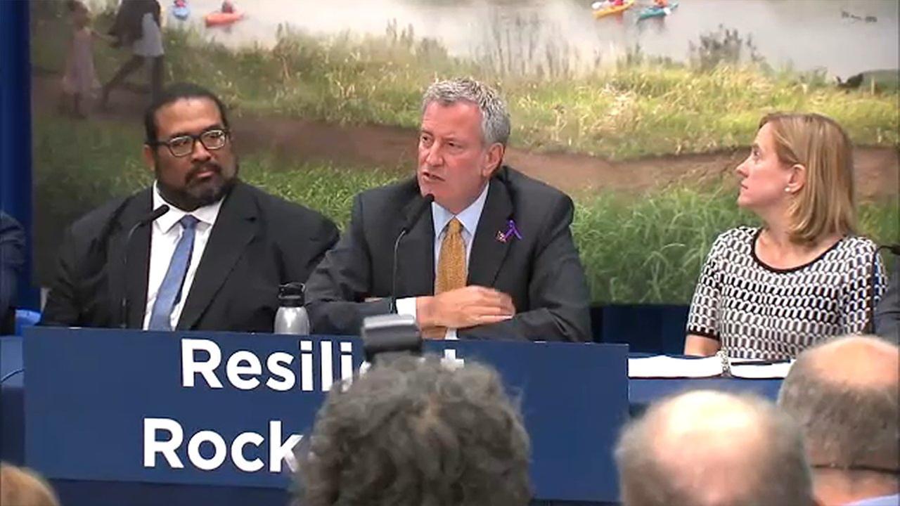 Mayor de Blasio announces $145M for resiliency projects in the Rockaways