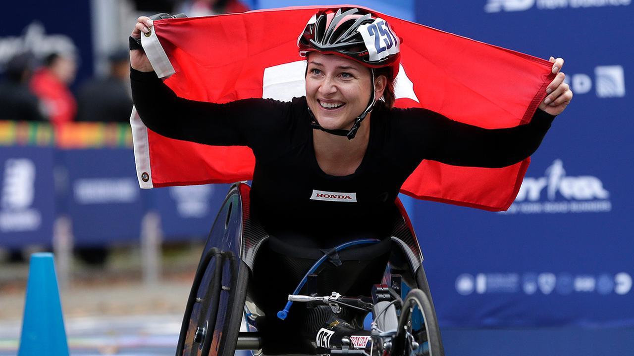 new york city marathon women wheelchair winner manuela schar