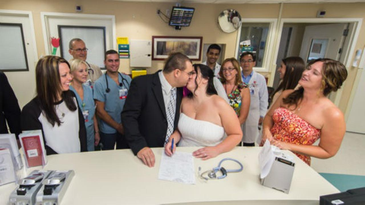 Man diagnosed with leukemia gets married at hospital