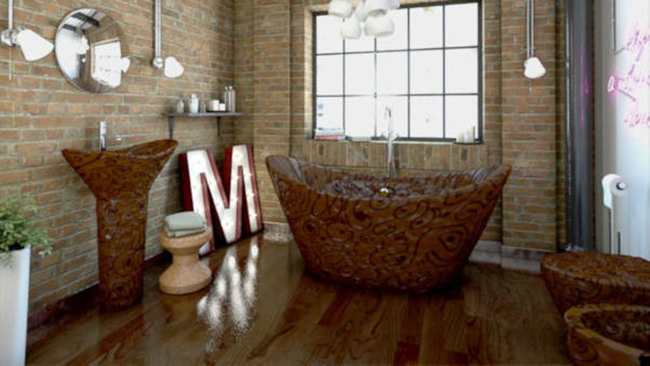 Completely chocolate bathroom can be yours for just $133,000