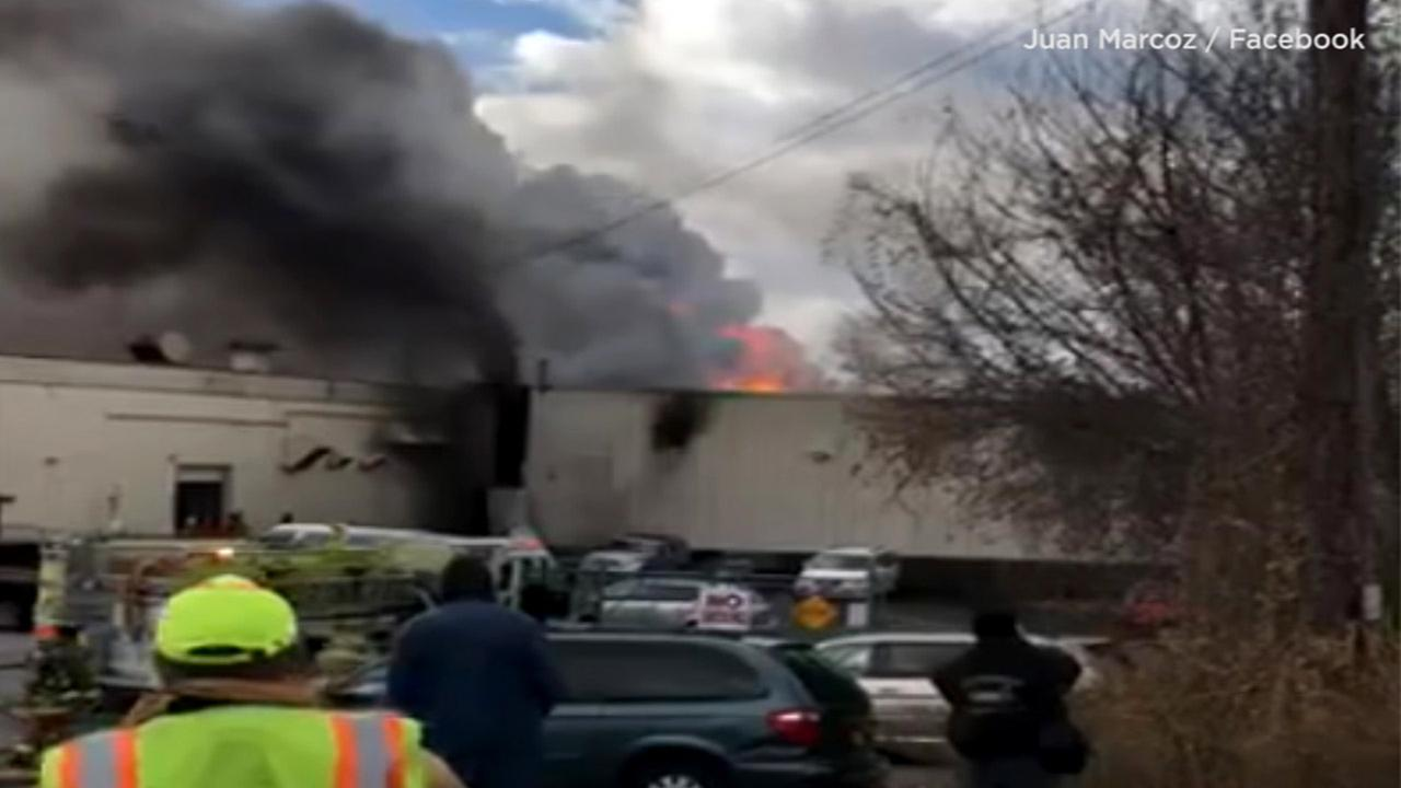2 explosions reported at upstate NY cosmetics factory