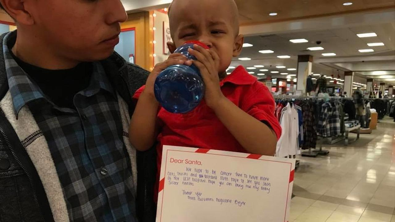 Family asks Santa for son to be cancer-free
