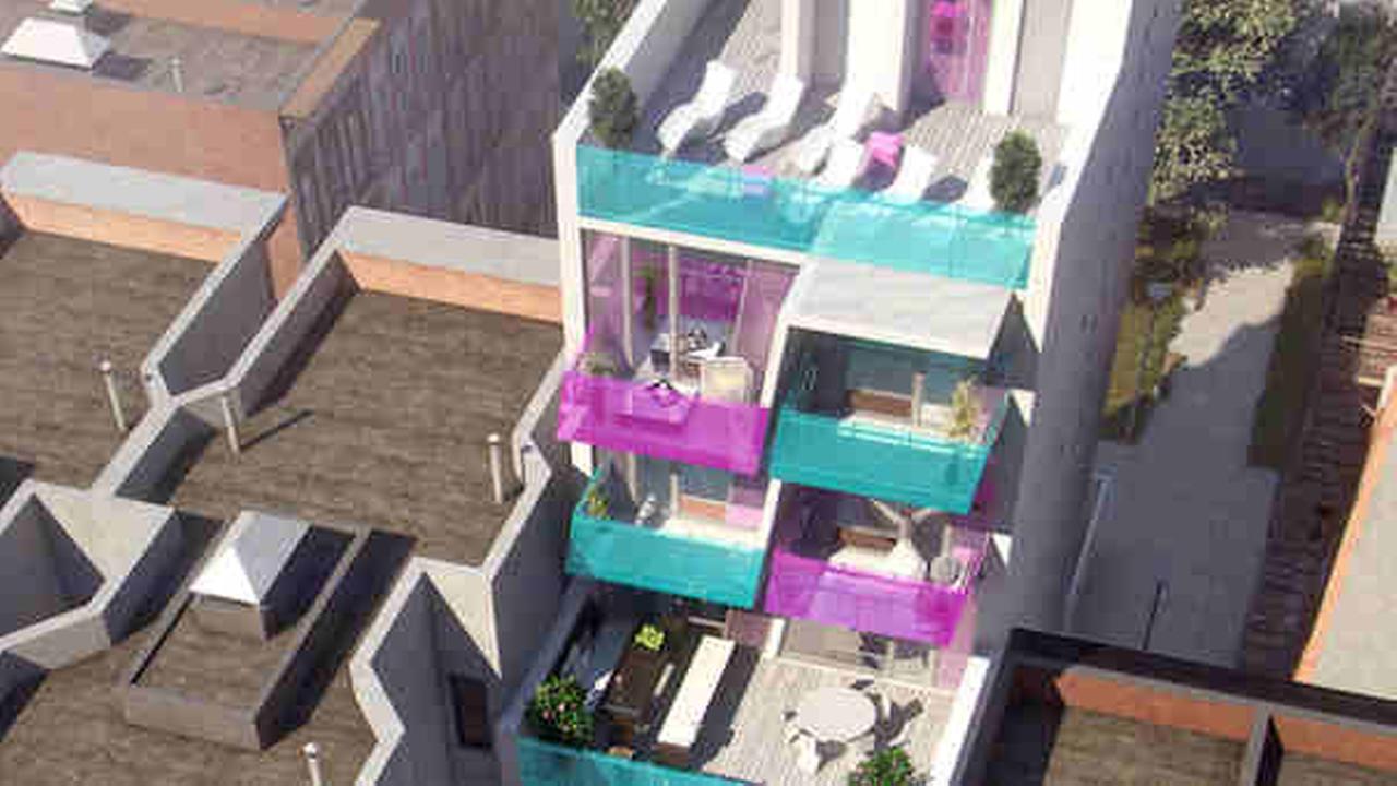east harlem colorful balconies