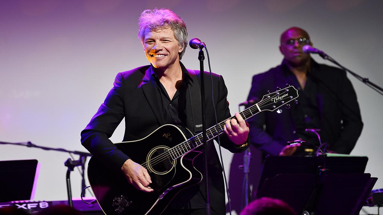Musician Jon Bon Jovi performs at the Samsung Charity Gala at Skylight Clarkson Square on Thursday, Nov. 2, 2017, in New York. (Photo by Evan Agostini/Invision/AP)