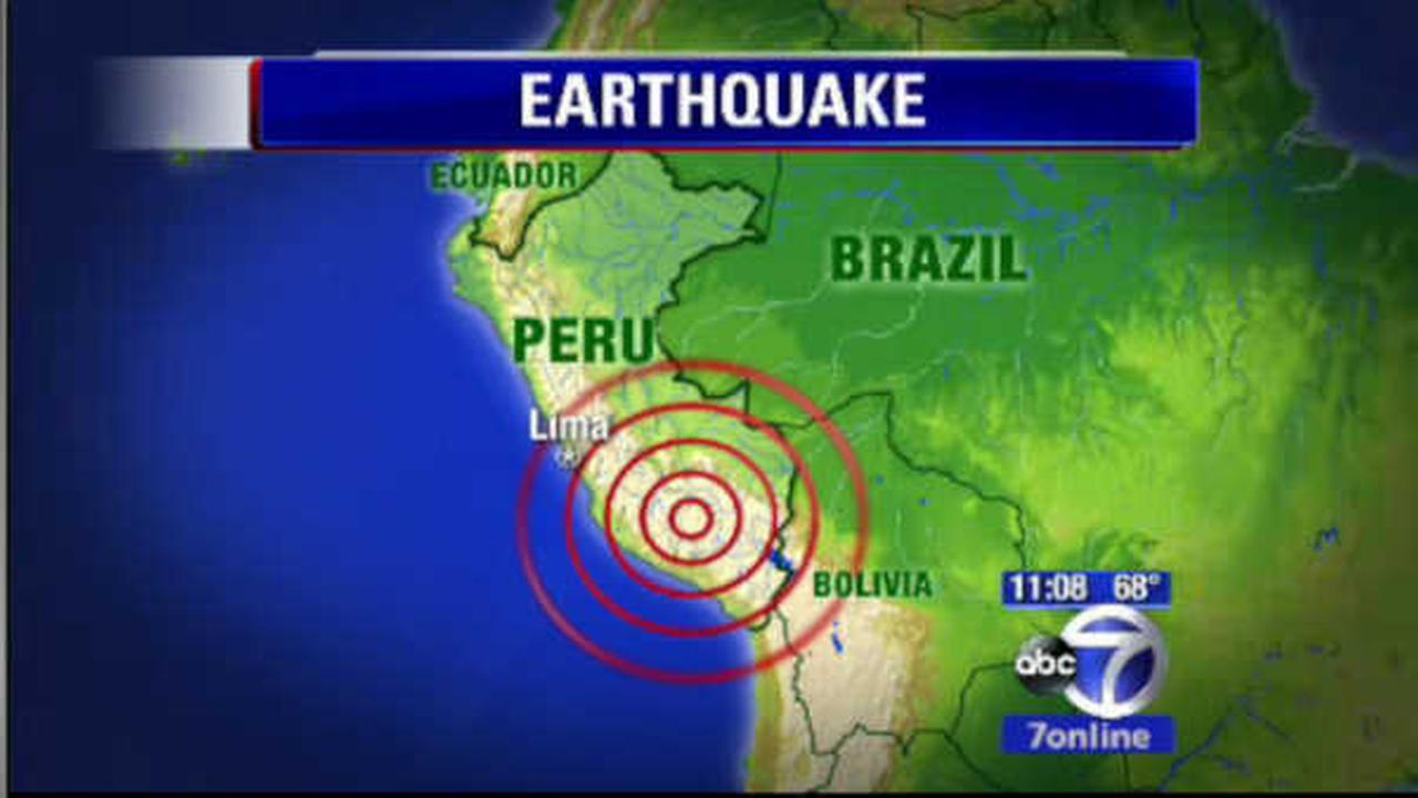 US Geological Survey reports magnitude 6.9 earthquake in central Peru