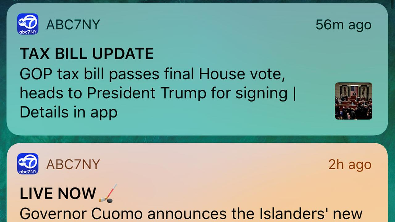 How to activate custom news alerts in the new ABC7NY app