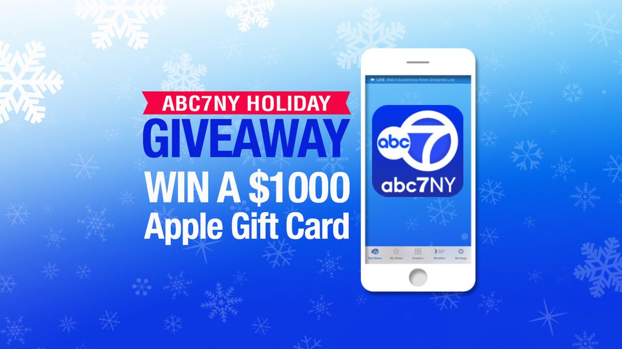 Abc7ny holiday giveaway find out how to enter to win a 1000 apple gift card giveaway 1betcityfo Gallery