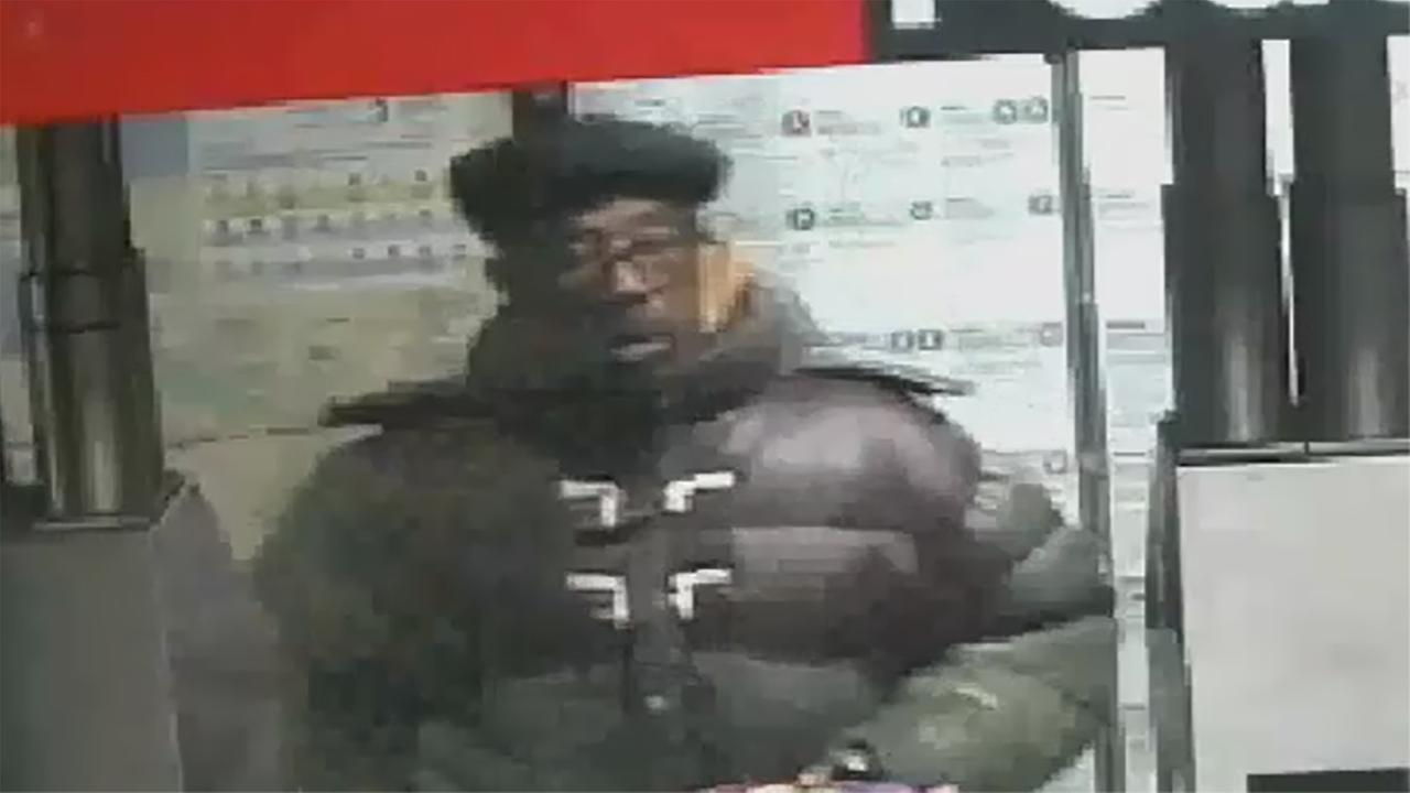 Police released surveillance images of the suspect in the robbery spree.