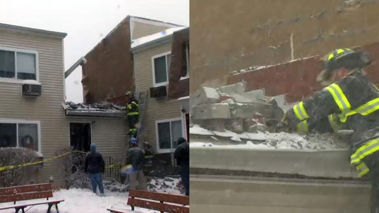 Wall collapses under weight of snow, ice at Nanuet senior citizen complex