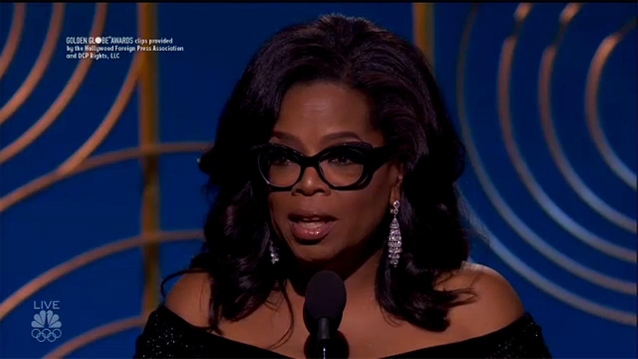 Oprah Winfrey's emotional Golden Globes speech sparks talk of 2020 presidential run