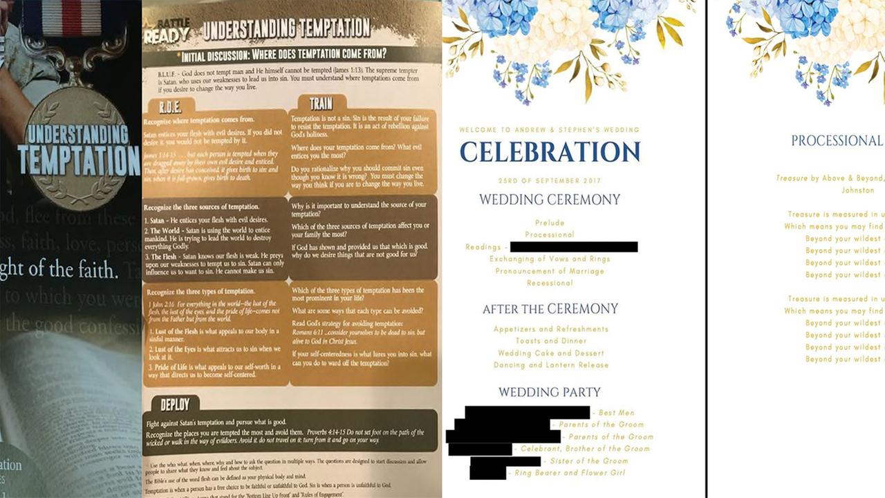 Suit: Gay couple married in Pennsylvania got 'hateful' flyers, not wedding programs