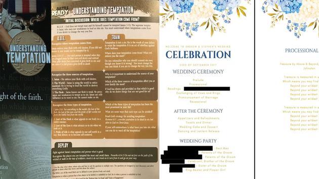 Suit Gay Couple Married In Pennsylvania Got Hateful Flyers Not Wedding Programs