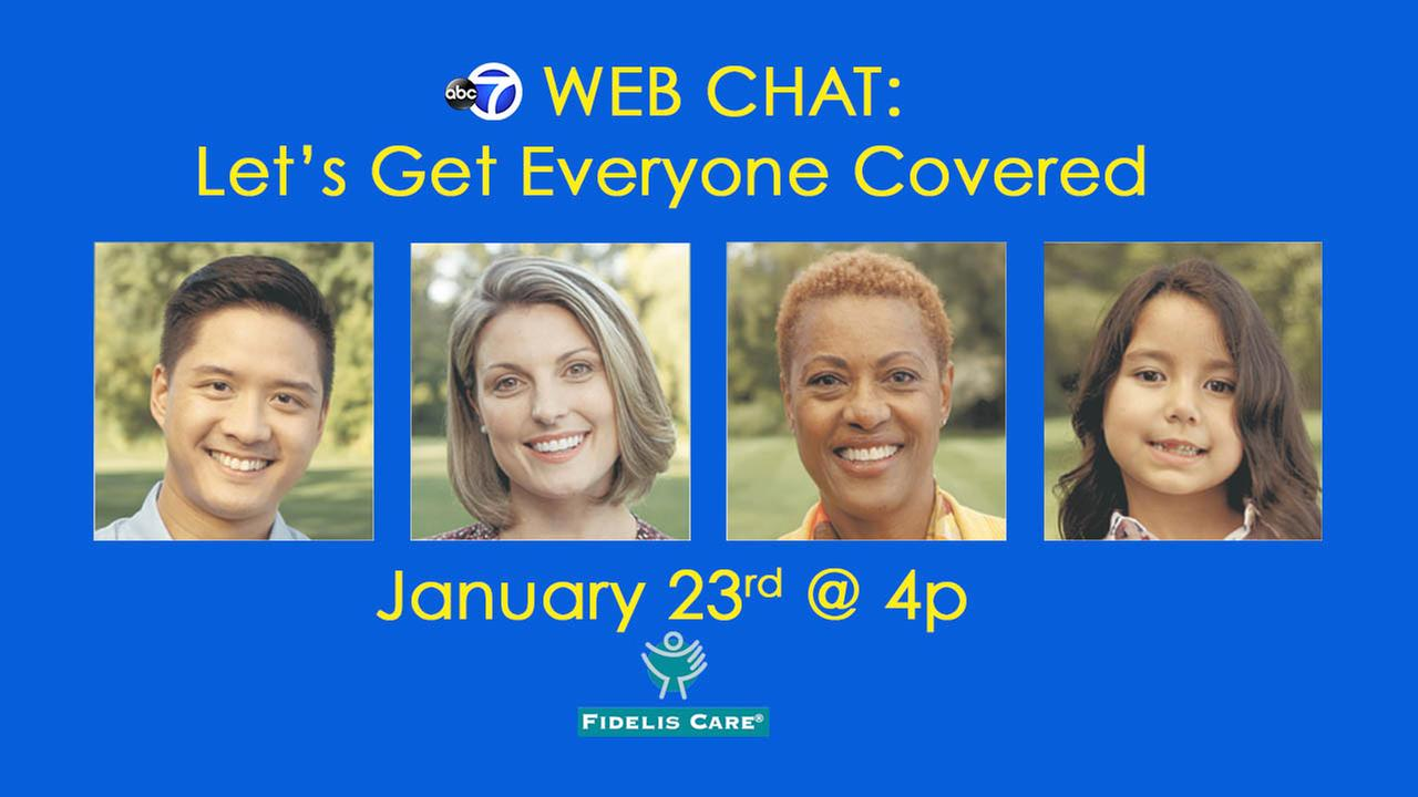 Qualified Health Plan Open Enrollment web chat on abc7NY