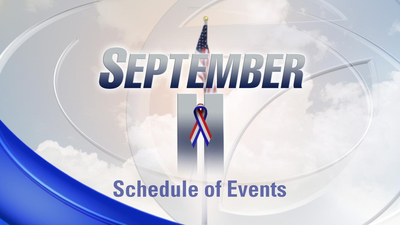 15th Anniversary of 9/11: Schedule of Events