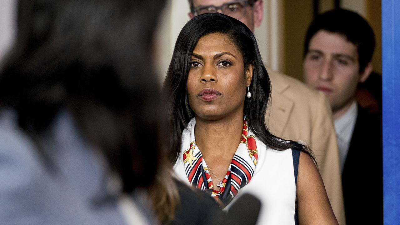 White House Director of communications for the Office of Public Liaison Omarosa Manigault arrives for the daily press briefing at the White House, Tuesday, May 30, 2017.