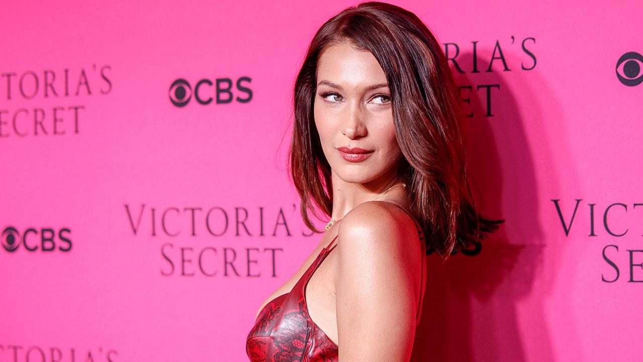 Bella Hadid attends the Victorias Secret fashion show viewing party at Spring Studios on Tuesday, Nov. 28, 2017, in New York.