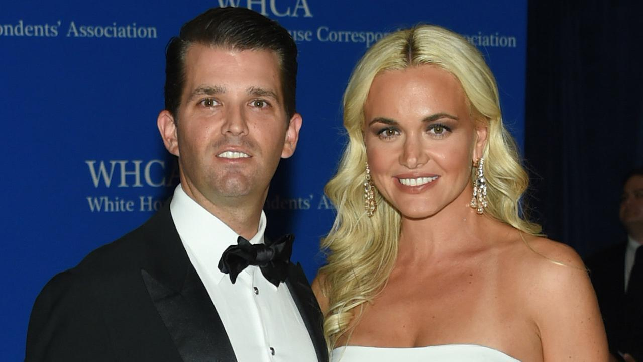 Donald Trump Jr. and wife Vanessa Trump attend the White House Correspondents Association Dinner at the Washington Hilton Hotel, Saturday, April 30, 2016, in Washington.