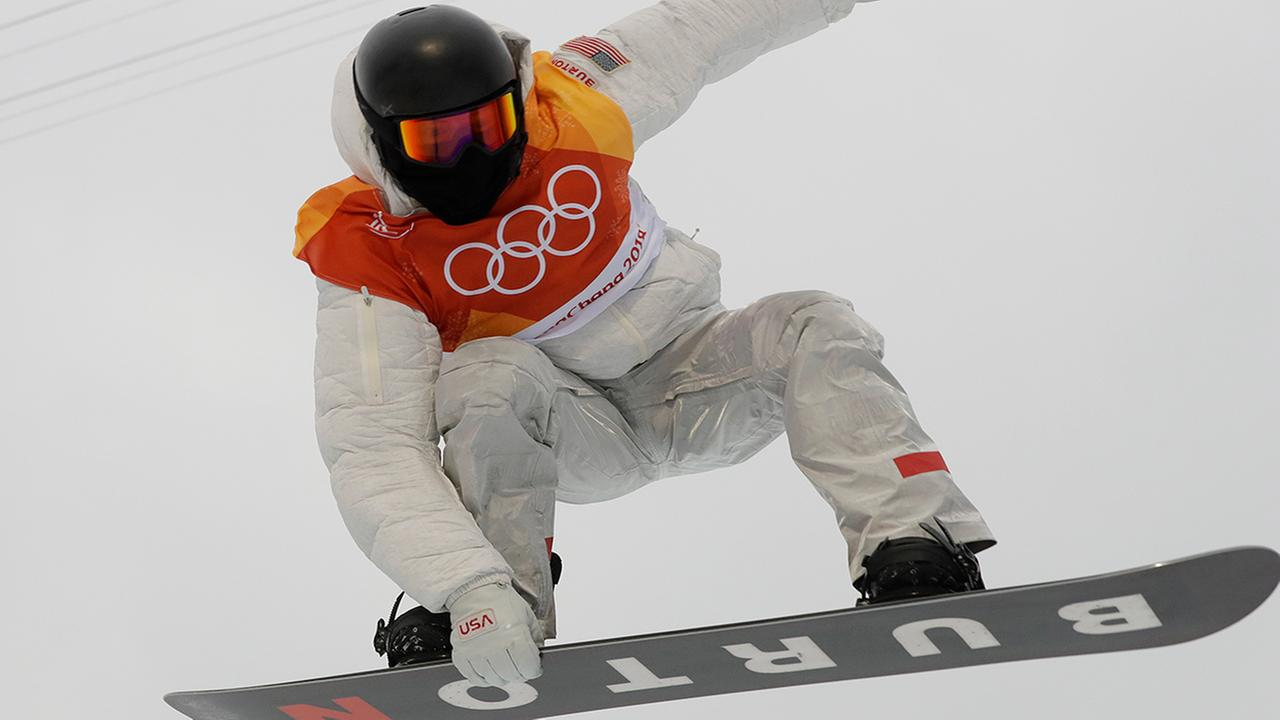 Shaun White, of the United States, jumps during the mens halfpipe finals at Phoenix Snow Park at the 2018 Winter Olympics in Pyeongchang, South Korea. (AP Photo/Kin Cheung)