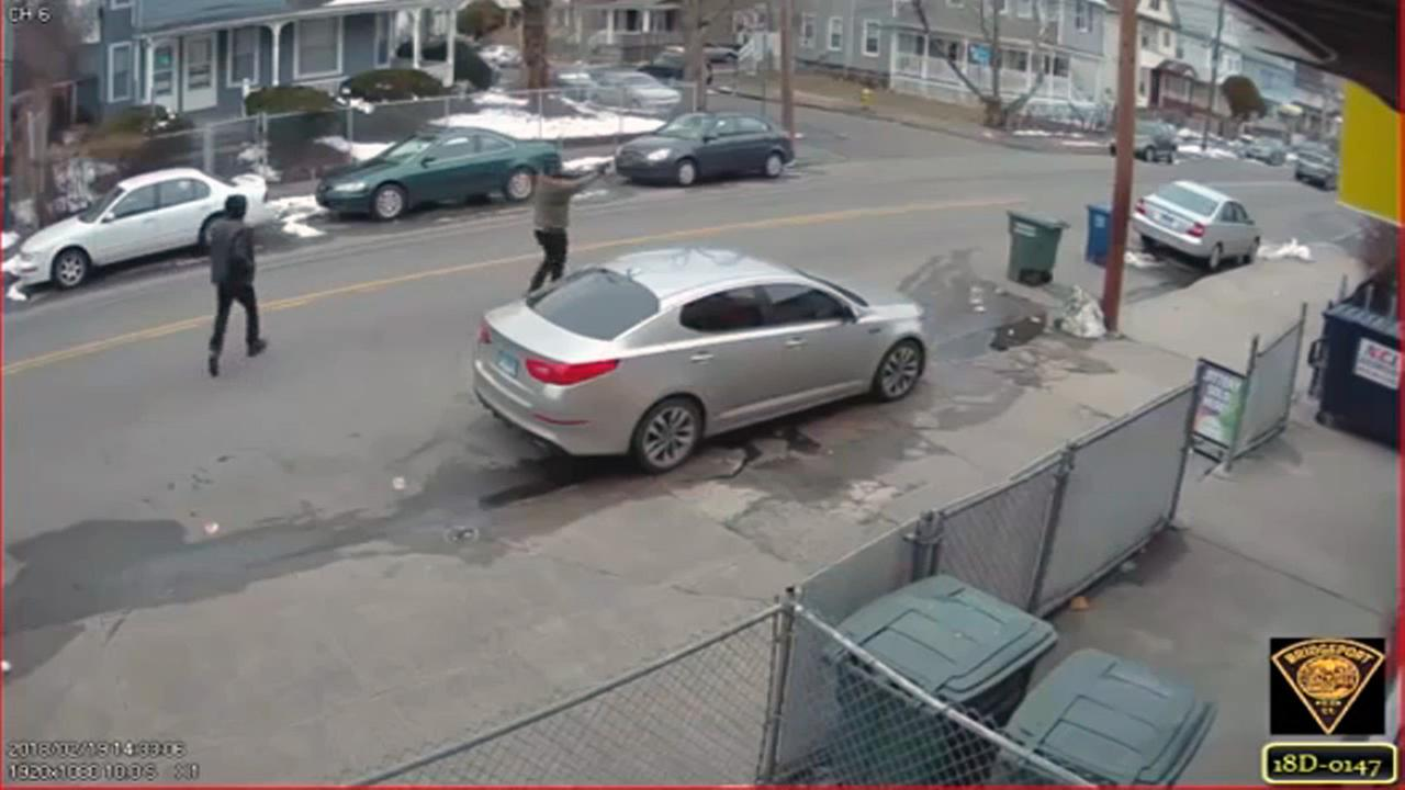 Daytime street shooting caught on camera in Connecticut