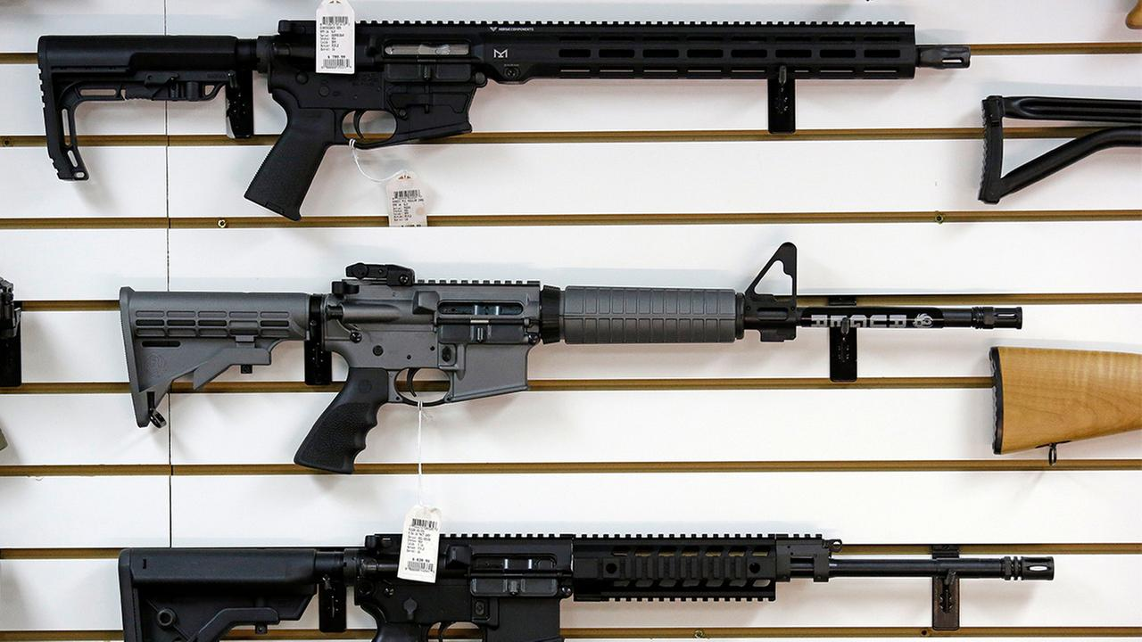 AP		FILE A Ruger AR-15 semi-automatic rifle