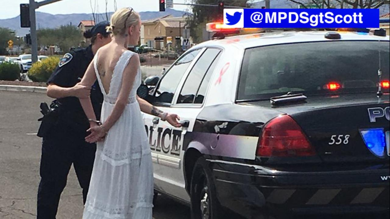 Bride arrested on suspicion of impaired driving on way to her wedding