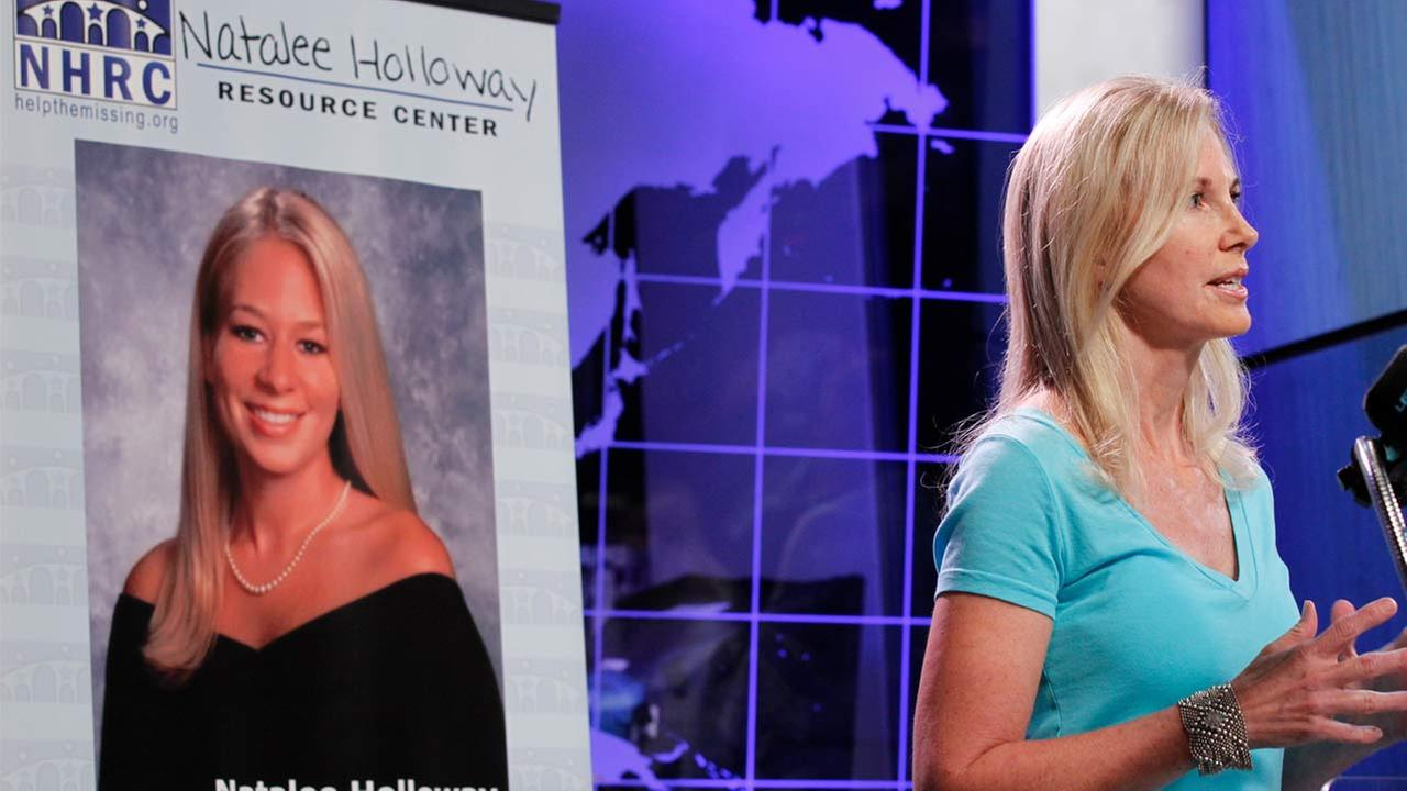 Beth Holloway, mother of Natalee Holloway, speaks during the opening of the Natalee Holloway Resource Center (NHRC) at the National Museum of Crime and Punishment in Washington.