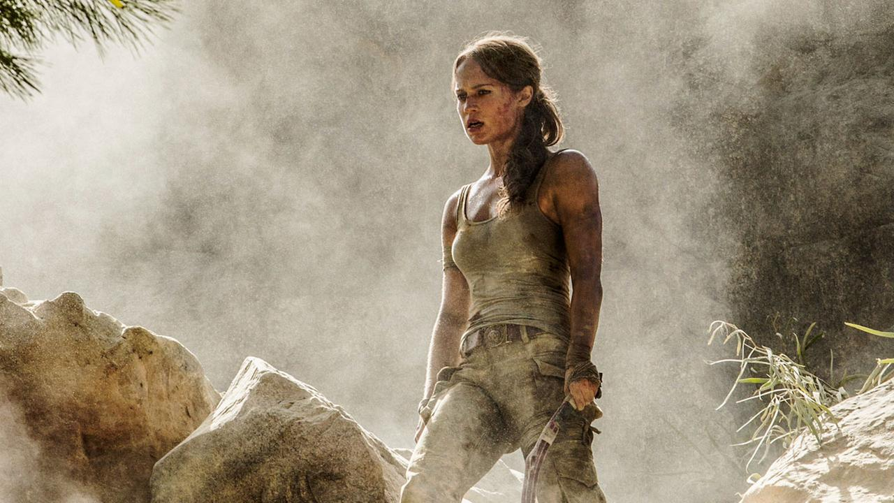 This image released by Warner Bros. Pictures shows Alicia Vikander in a scene from Tomb Raider. (Ilze Kitshoff/Warner Bros. Pictures via AP)