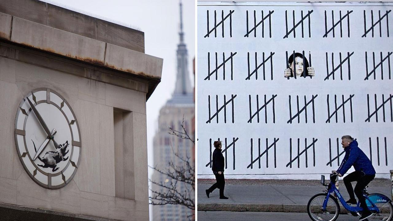 Banksy protests Turkish artist's incarceration in new mural