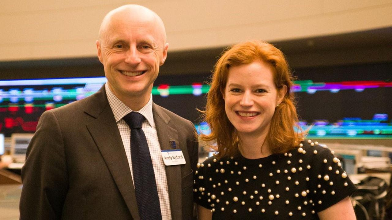 Andy Byford, New York City Transit President poses with Sarah Meyer, Chief Customer Officer.
