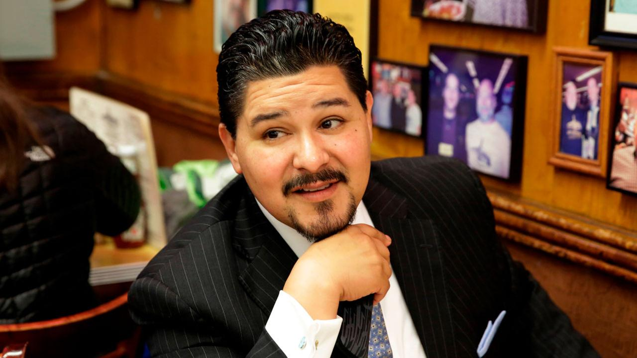 Newly appointed New York City Schools Superintendent Richard A. Carranza, from Houston, at Katzs Delicatessen on the Lower East Side