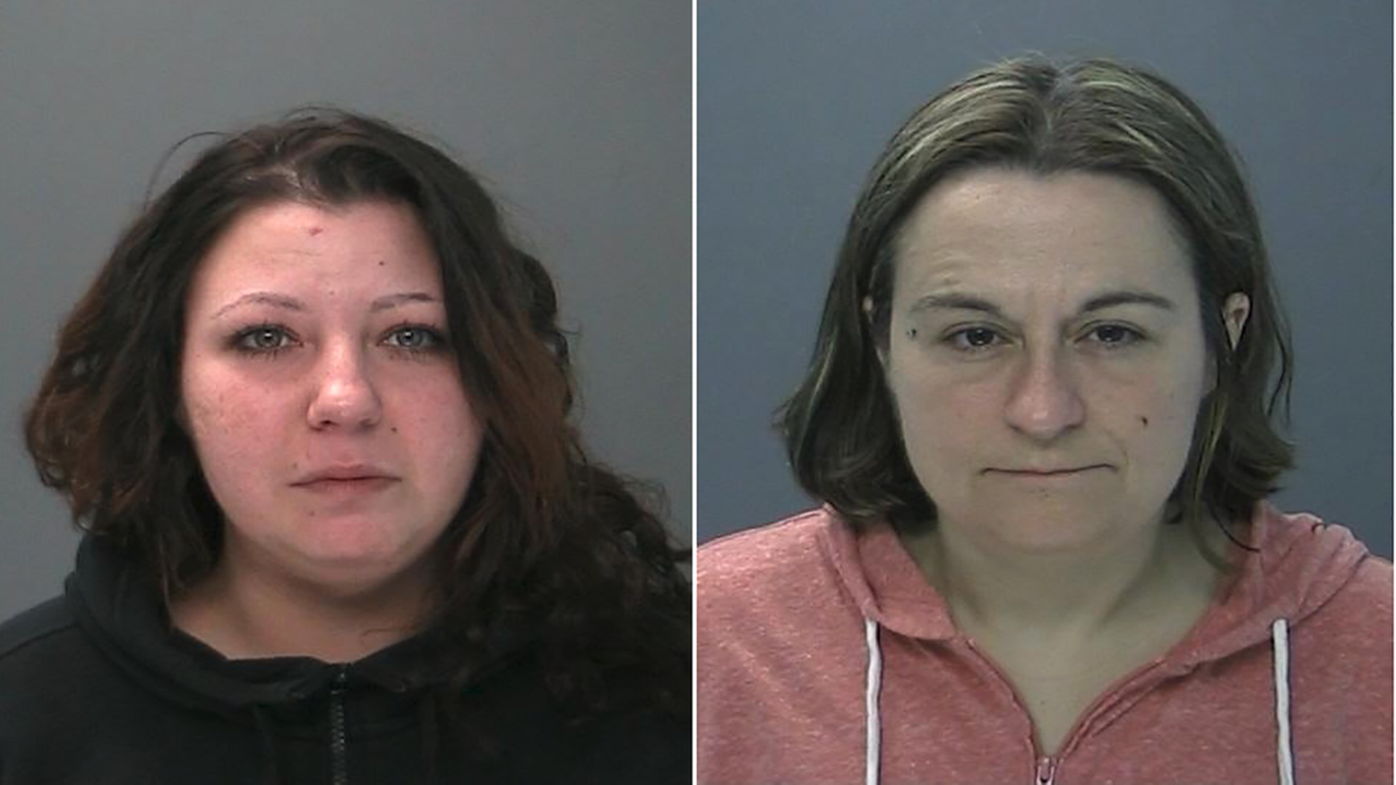 Monica Newcombe, l, and Heather Lauro, r (Suffolk County Police photo)