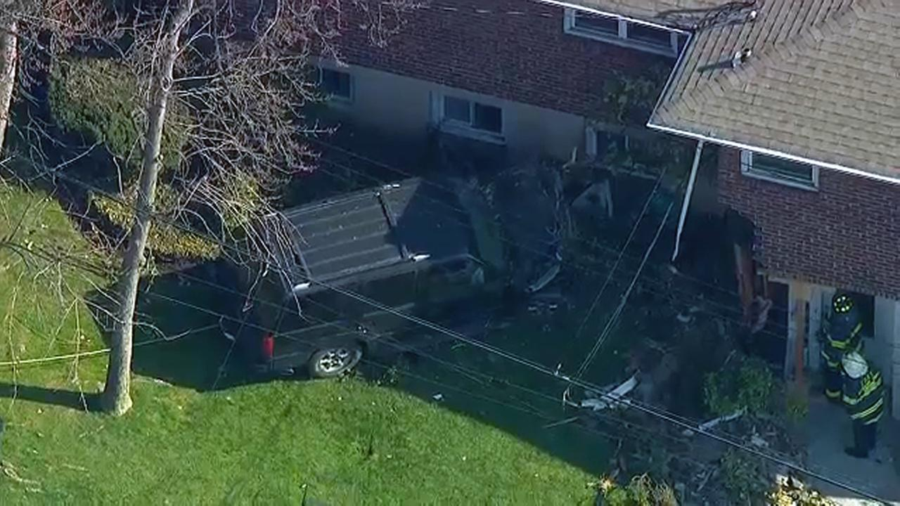 Injured After Car Crashes Into Long Island House