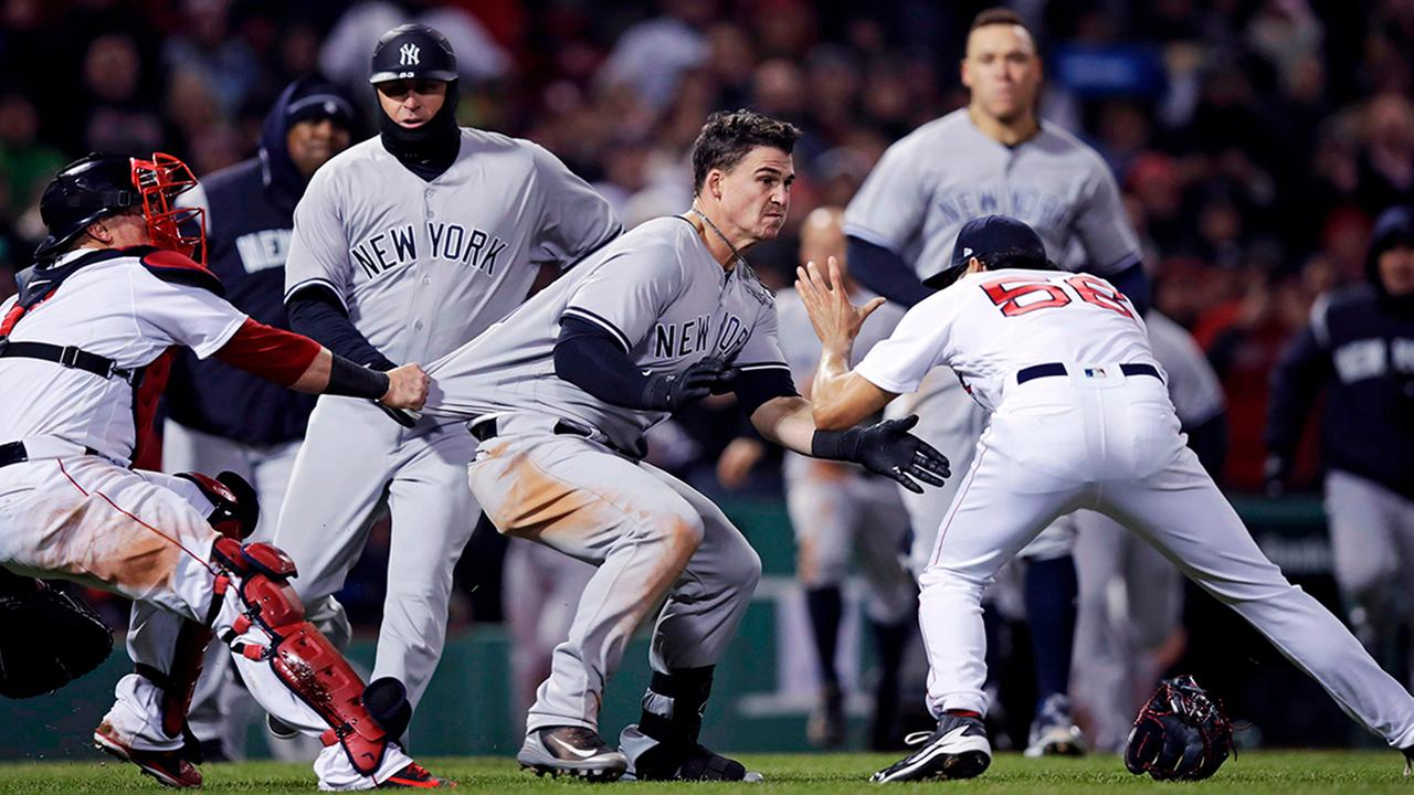Suspensions and Fines Handed Down After Last Night's Red Sox/Yankees Brawl