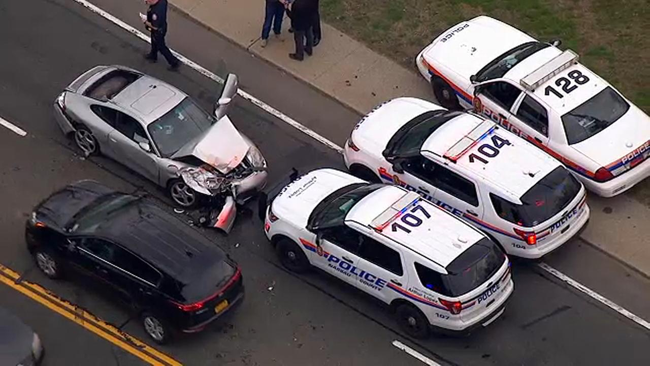 Driver accused of hitting pedestrian while leading police on chase in Uniondale