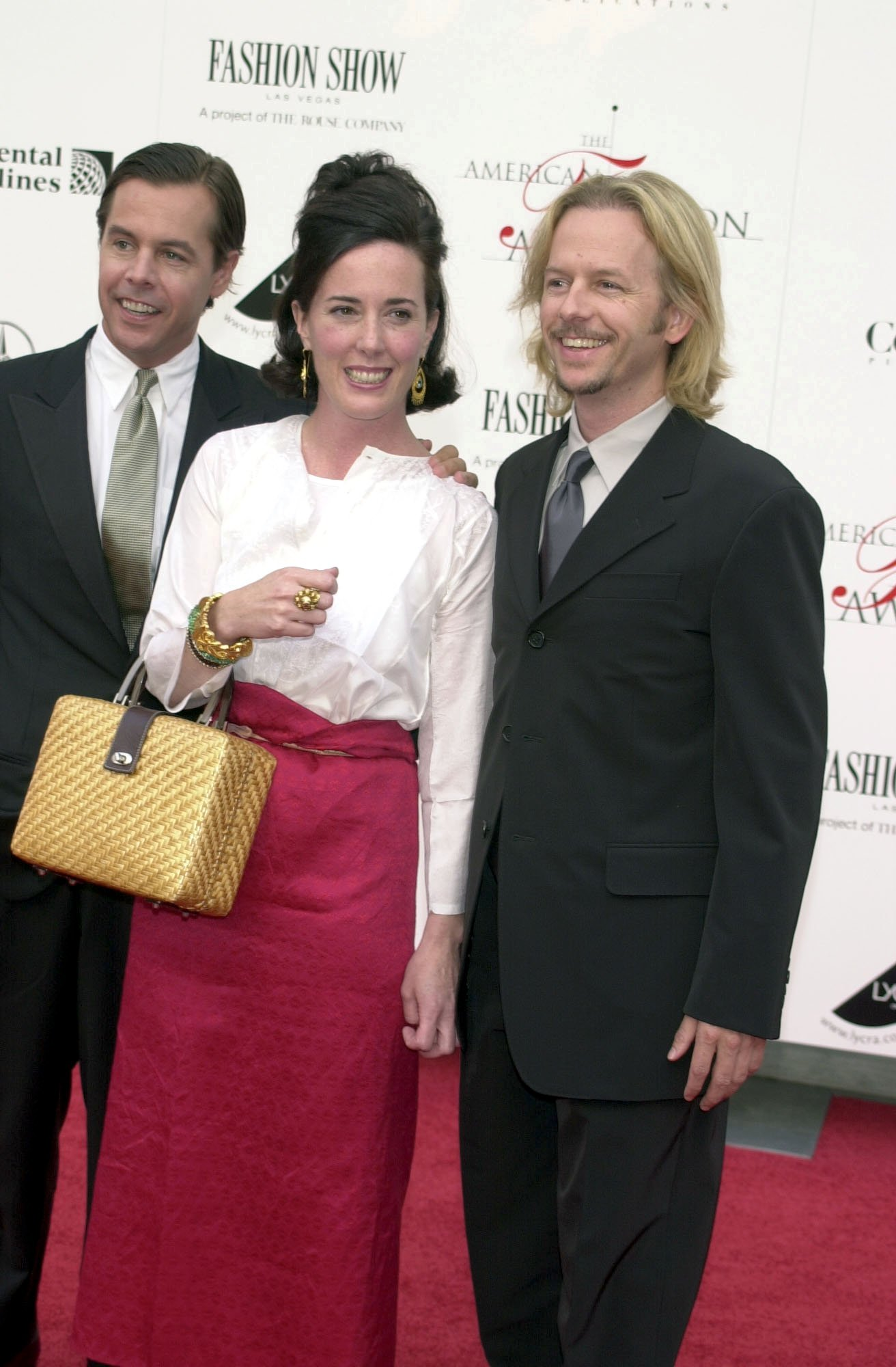 <div class='meta'><div class='origin-logo' data-origin='none'></div><span class='caption-text' data-credit='CHARLES SYKES/REX/Shutterstock'>Kate Spade with brother David Spade at the Council of fashion designers of America Fashion Awards in New York in 2001</span></div>