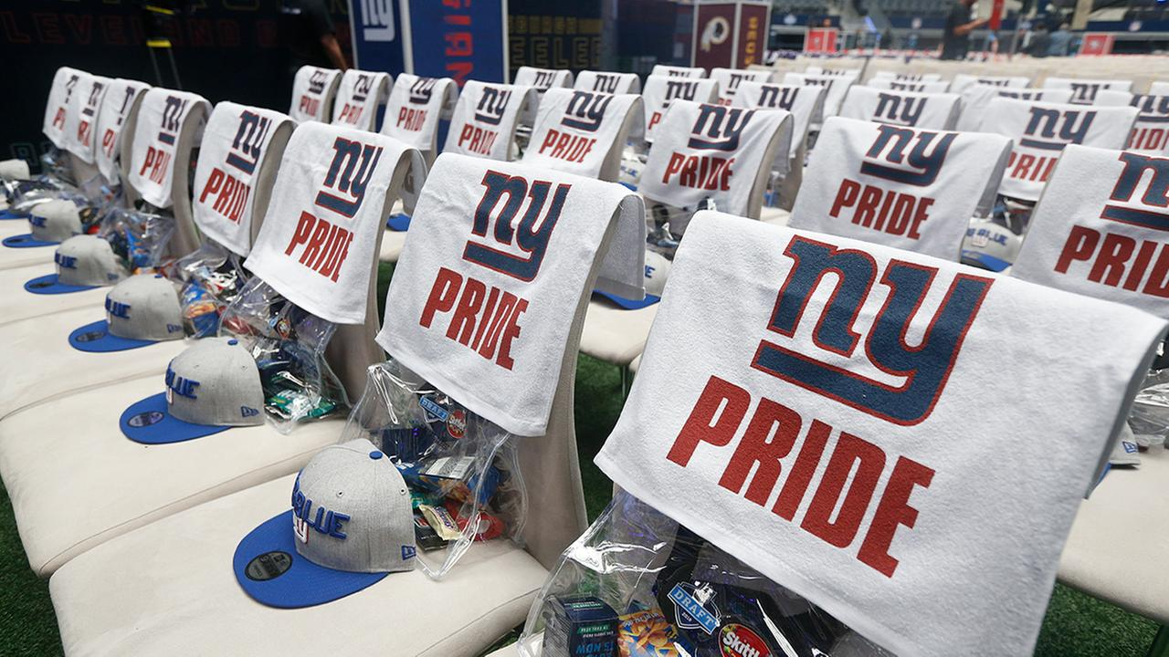 New York Giants seating is shown before the first round of the 2018 NFL football draft, Thursday, April 26, 2018, in Arlington, Texas. (AP Photo/Michael Ainsworth)