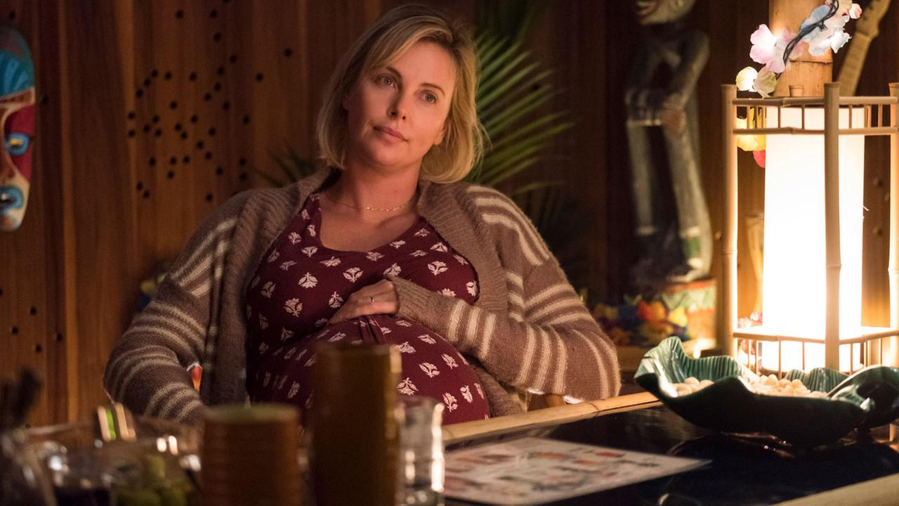 This image released by Focus Features shows Charlize Theron in a scene from Tully.
