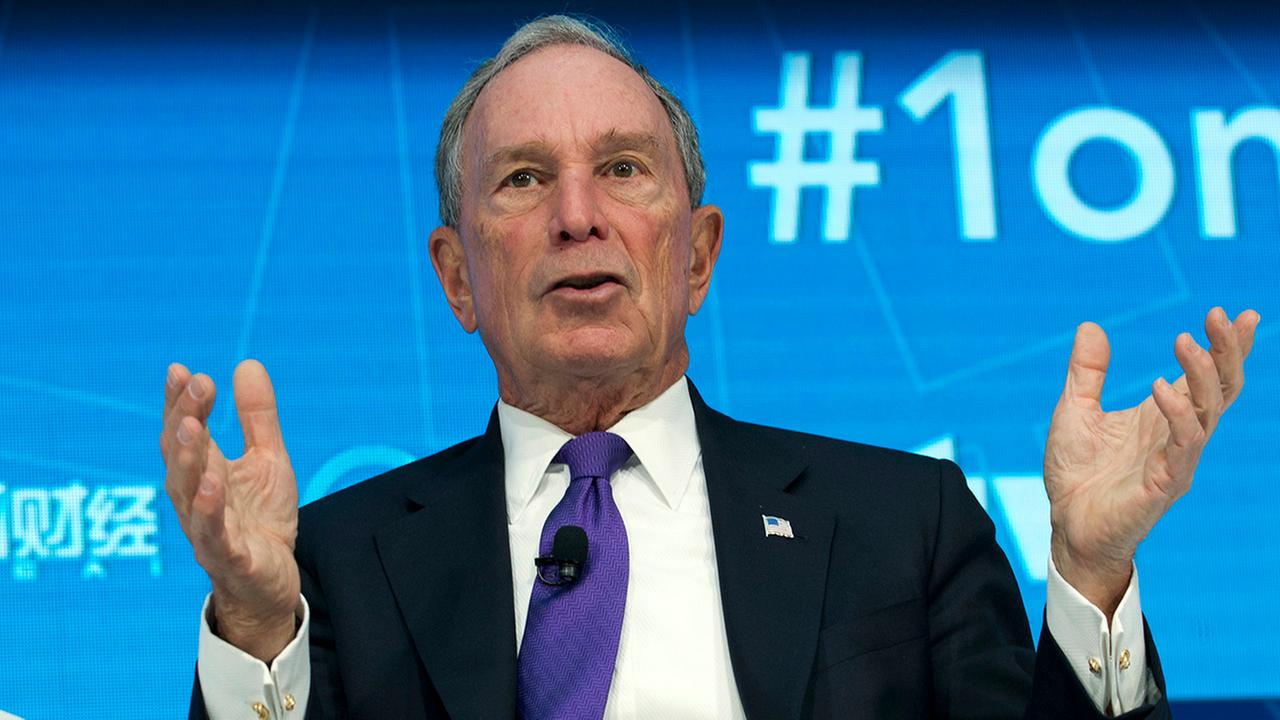Former New York City Mayor and UN Special Envoy for Climate Action Michael Bloomberg speaks at World Bank/IMF Spring Meetings, in Washington, Thursday, April 19, 2018.