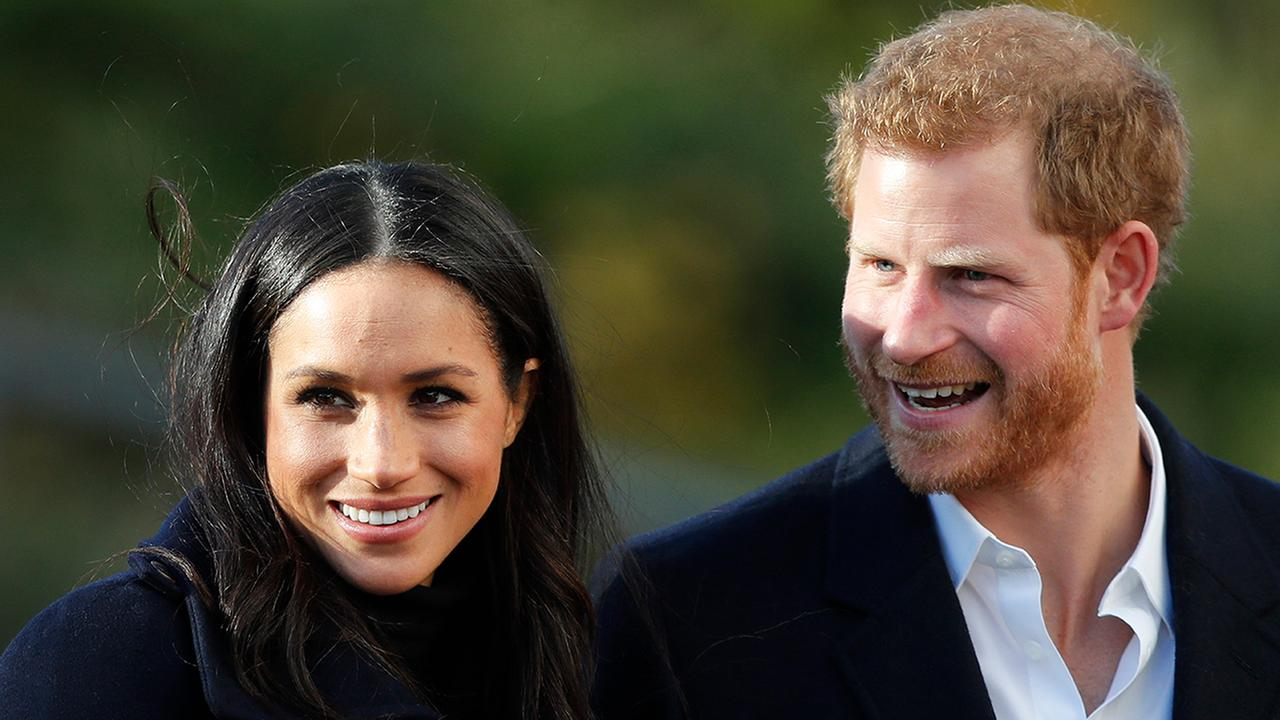 Britains Prince Harry and his fiancee Meghan Markle arrive at Nottingham Academy in Nottingham, England , Friday, Dec. 1, 2017. (AP Photo/Frank Augstein)